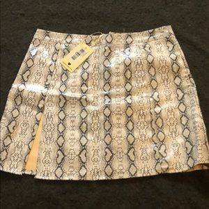 Snake skin skirt with tags